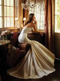 Sophia Tolli gold wedding gown