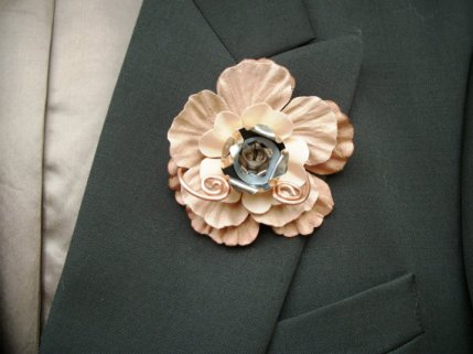 Steampunk boutonniere, by SteampunkWedding on etsy.com