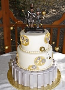 Steampunk wedding cake {via cakewrecks.com}