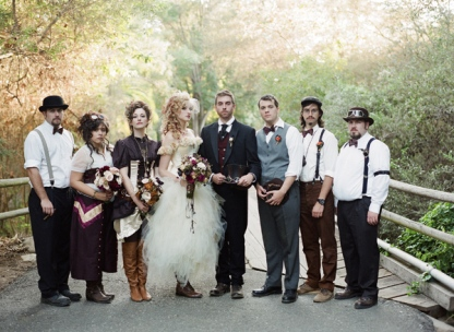 Steampunk wedding party {via vintagestyleweddings.blogspot.com}