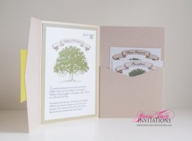 Storybook-style invitation, by yourstrulyinvitation on etsy.com