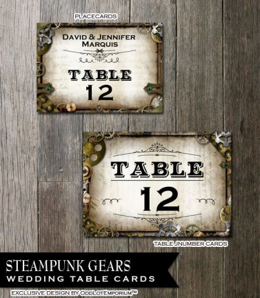 Table numbers, by OddLotEmporium on etsy.com