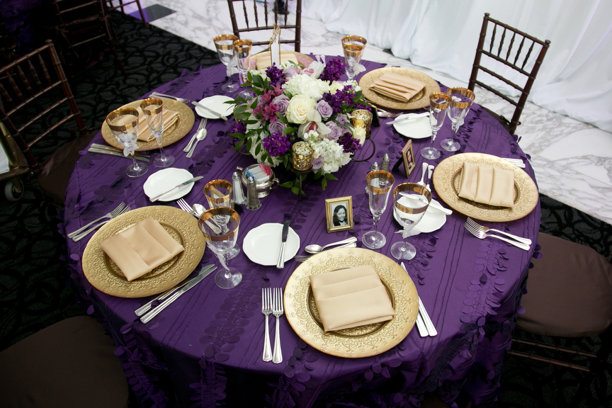 Purple and gold wedding the merry bride junglespirit Image collections