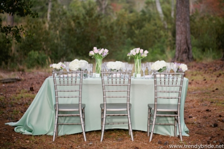 Table setting inspiration, via trendybride.net