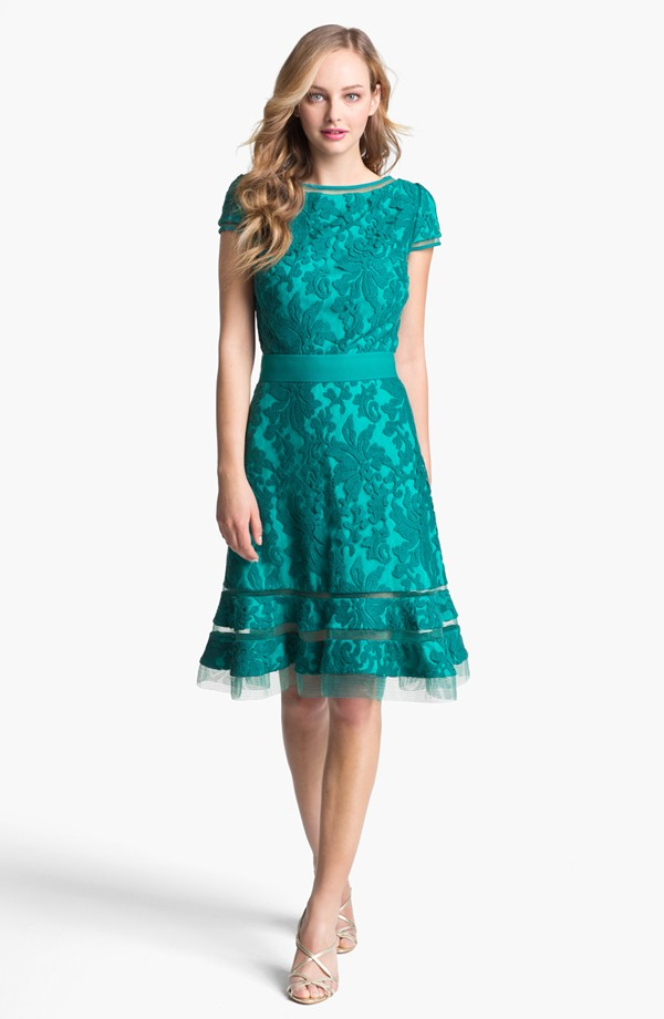Tadashi shoji textured lace dress from for Nordstrom wedding party dresses