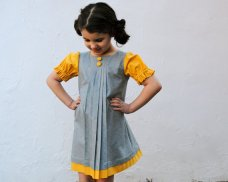 Vintage-style flower girl dress, by SewnNatural on etsy.com