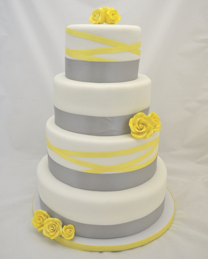 wedding cakes yellow and grey grey and canary yellow wedding the merry 26162
