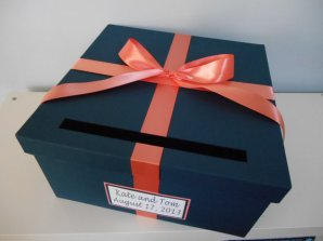 Wedding card box, by astylishdesign on etsy.com