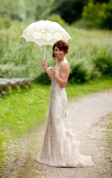 Champagne wedding dress, by sistak on etsy.com