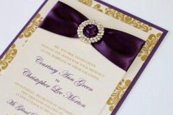 Wedding invitation, by EmbellishedPaperie on etsy.com