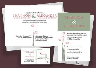 Wedding invitation, by nraevsky on etsy.com