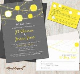 Wedding invitation, by pixelpaper on etsy.com