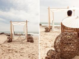 Beach ceremony setting {via greenweddingshoes.com}