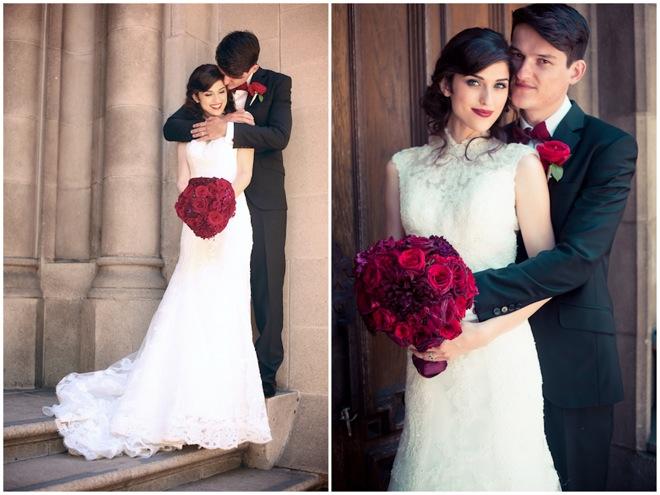Black, white and red wedding couple {via bridalmusings.com ...
