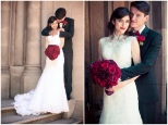 Black, white and red wedding couple {via bridalmusings.com}