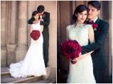Black, white and red wedding couple {via bridalmusings.com}