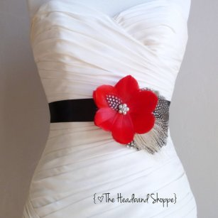 Bridal sash, by TheHeadbandShoppe on etsy.com