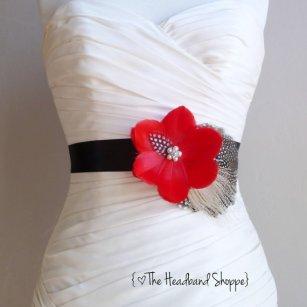 Bridal sash, by TheHeadbandShoppe on etsy.com