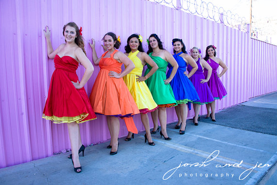 Rainbow Wedding The Merry Bride