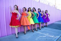 Bridesmaid 1950s-style convertable wrap dresses, by StaysiLee on etsy.com