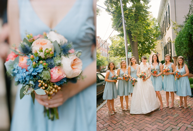 Peach And Light Blue Wedding The Merry Bride