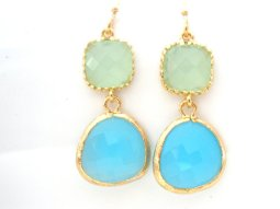 Earrings, by mlejewelry on etsy.com