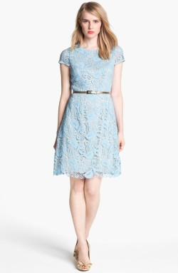 Eliza J Belted Cotton Lace Dress, from nordstrom.com
