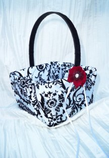 Flower girl basket, by creations4brides on etsy.com