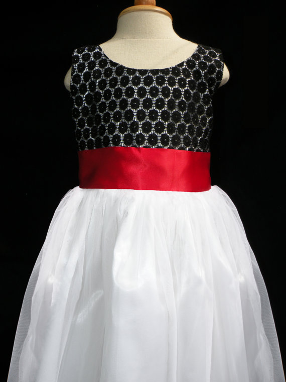 Flower girl dress by hannahandanne on etsy the merry bride 760 in black white and red wedding mightylinksfo