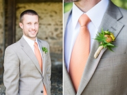 Groom style idea - peach tie {via weheartit.com}