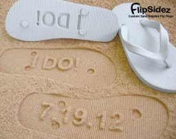 Imprint flip-flops/jandals, by FlipSideFlipFlops on etsy.com