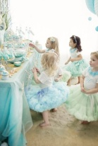 Mint and light blue flower girls {via zsazsabellagio.blogspot.com}