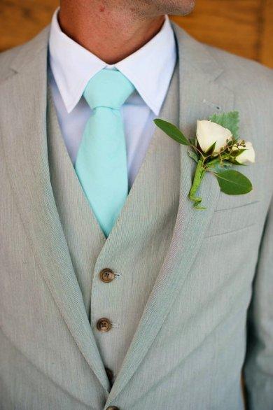Mint tie, by HandmadeByEmy on etsy.com