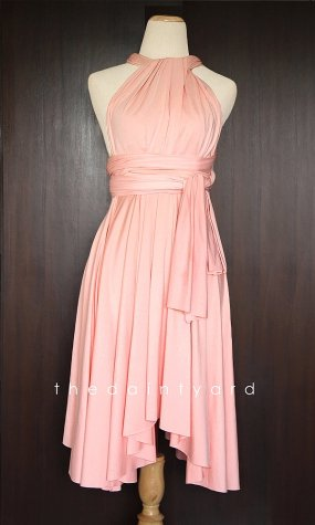 Peach infinity dress, by thedaintyard on etsy.com
