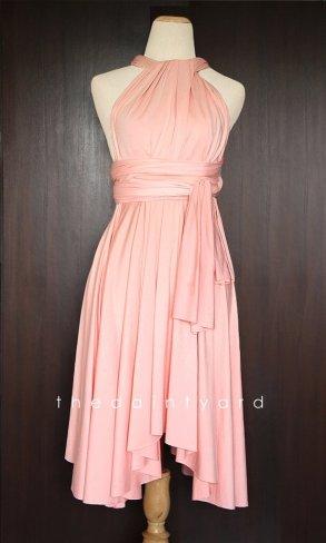 Peach infinity dress, by thedaintyard on etsy.com