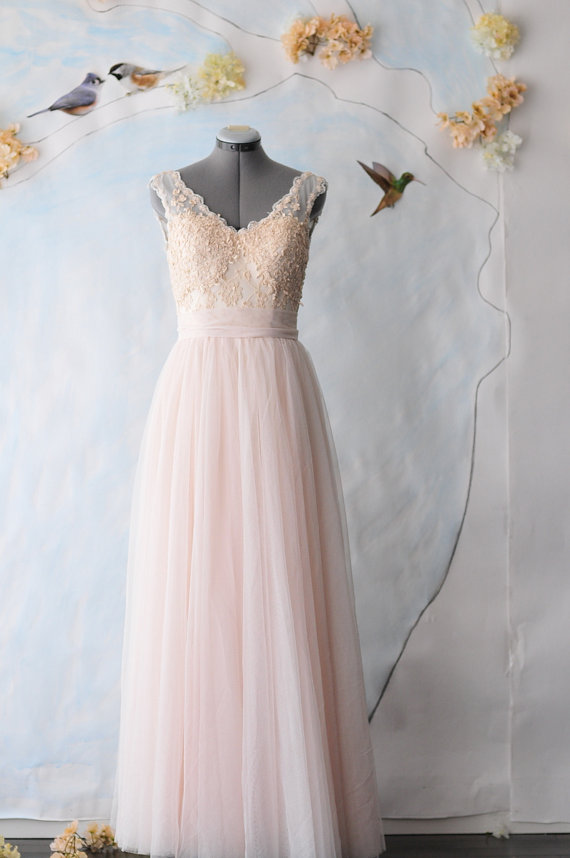 Peach And Light Blue Wedding The Merry Bride
