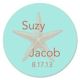 Personalised stickers for wedding favours, by modernzebradesign on etsy.com