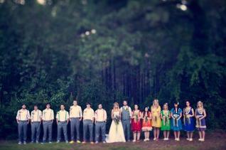 Rainbow bridal party {via greenweddingshoes.com}