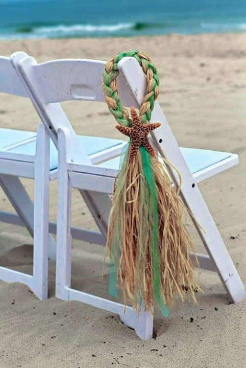 starfish and raffia chair decorations by onefunday on
