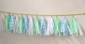 Tassel garland, by GlamFeteByBri on etsy.com