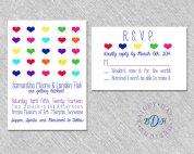 Wedding invitation, by BaileyHallDesigns on etsy.com