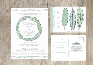Wedding invitation, by deliveredbyhand on etsy.com
