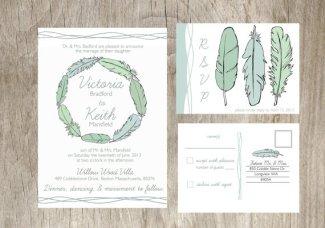 Wedding invitation, by deliveredbyhand on etsy.com