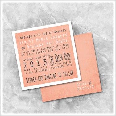 Wedding invitation, by ImpressivePrint on etsy.com