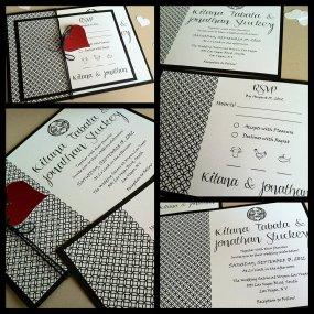 Wedding invitation, by kandvcrafts on etsy.com