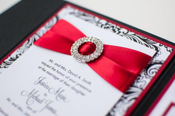 Rhinestone Wedding Invitations was good invitation template