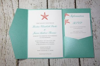 Wedding invitation, by TorisCustomCreations on etsy.com