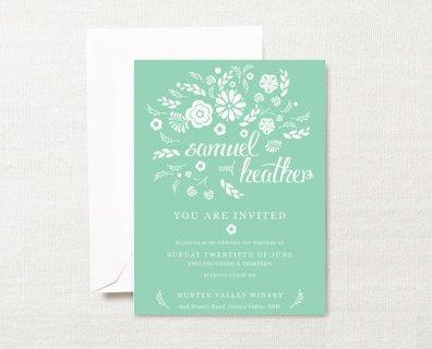 Wedding invitation, by ZestAndLime on etsy.com