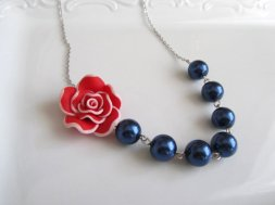 Bridesmaid necklace, by MUGE on etsy.com