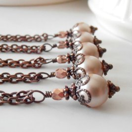 Bridesmaid necklaces, by FiveLittleGems on etsy.com